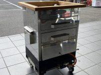 上原工業所 遠赤外線オーブン 焼き芋機 ガス式 業務用 セラオーブン LPガス 2段式を買取ました!