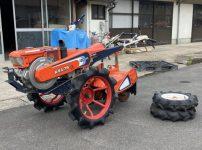 耕運機 K18 KRA75 7.5馬力 ノーマルタイヤ付き 水田車輪 を買取ました!