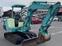 ヤンマー B27 ユンボ ゴムキャタ 6825時間 ミニ油圧ショベル バックホウを買取ました!